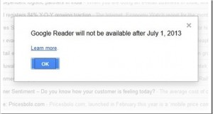 RIP Google Reader- Time to search the alternatives