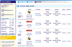MakemyTrip Search Results