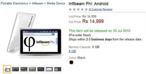 Can Infibeam Phi tablet really make it big?