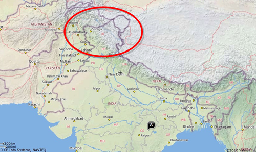 Map Of India And Pakistan Border.Wtf First Google Maps And Now Yahoo Maps Shows Kashmir In Pakistan