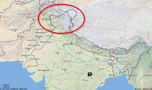 Yahoo India Map