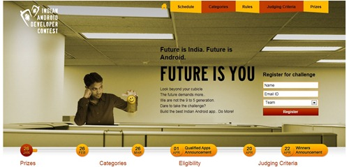 Indian Android App developer Contest