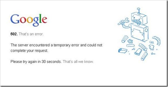 What Happens When Google Goes Down!