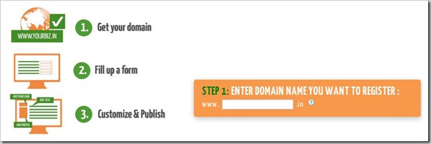 domain name Wow! Google offers Free Website with .in domains   Grab Now!