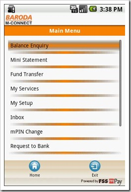 baroda Bank M connect | 5 Indian Banks having their own iPhone/Android Apps!
