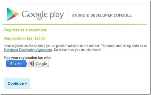 Android Developer Account