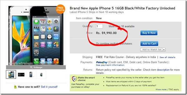 iPhone 5 in India