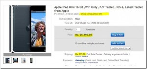iPad Mini available on Ebay India for Rs. 25,990!