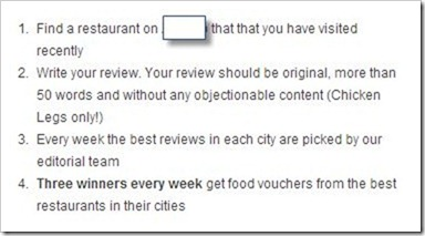 food vouchers for review