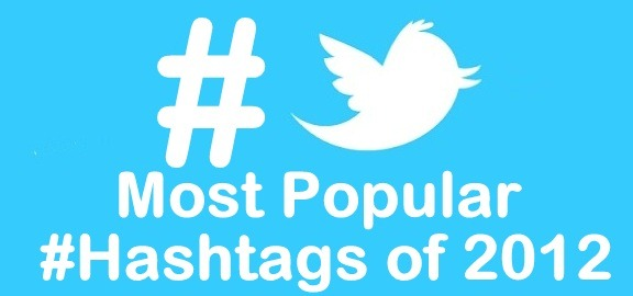Most popular Twitter Hashtags 2012