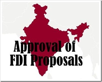 FDI proposal approvals thumb | 14 FDI proposals worth Rs. 1310 crore cleared by Govt.