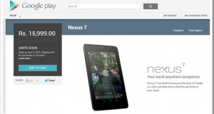 Google Nexus 7 launches in India at Rs. 16k, Nexus 4 Next?