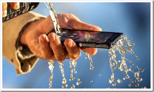 Sony Xperia Z waterproof dustproof phone