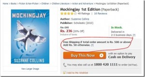 Flipkart raises Free Shipping Limit from Rs. 300 to Rs. 500!
