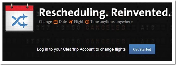 Cleartrip rescheduling feature