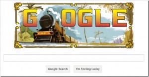 Google Publishes Doodle for India's First Passenger Train!