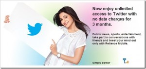 Reliance launches Free Twitter Access to its Mobile Users
