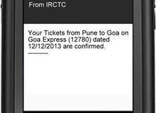 IRCTC will start offering Train Ticket bookings through SMS