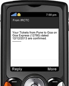 Train Tickets SMS-001