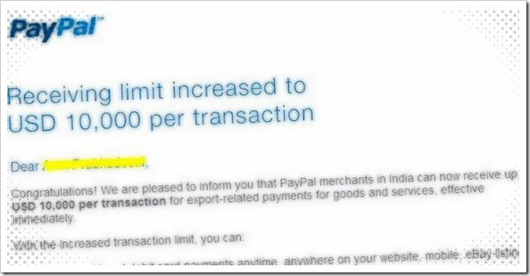 Paypal Money Receiving Limit In India