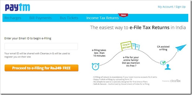 paytm filing tax returns