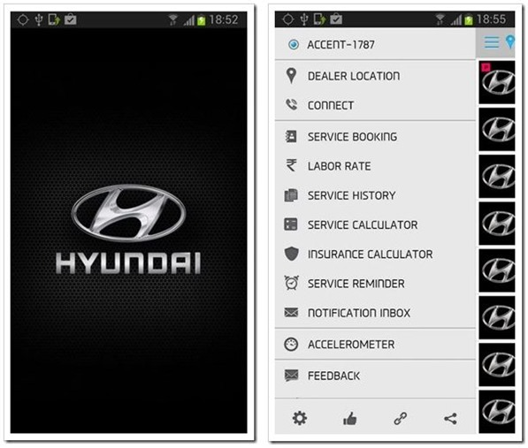 hyundai real time service app