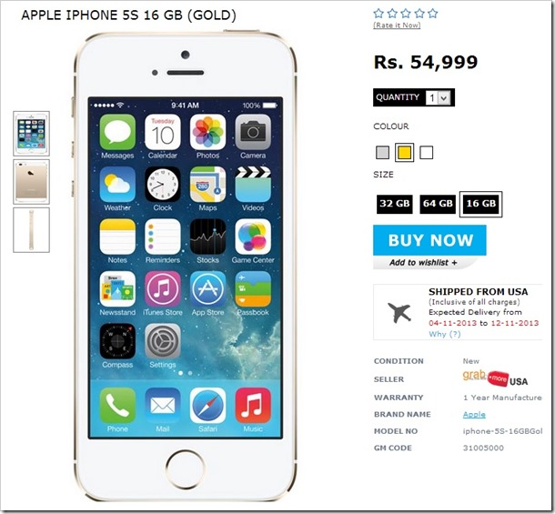 iPhone 5S Price buy