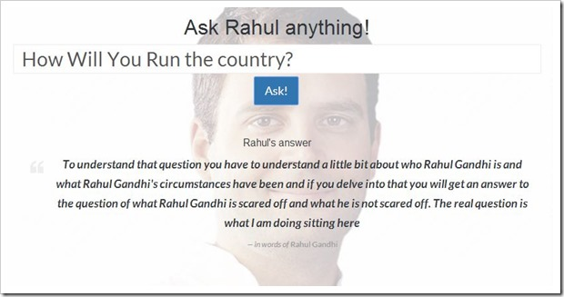 Ask Rahul Anything