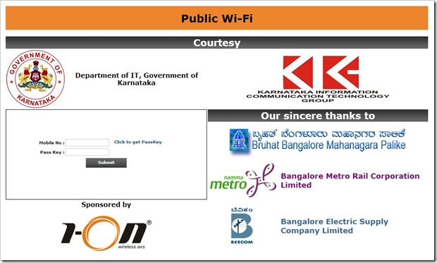Bangalore Gets Free Wi-Fi Zones