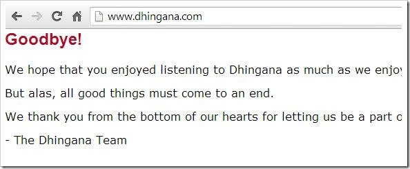 Dhingana Shut down