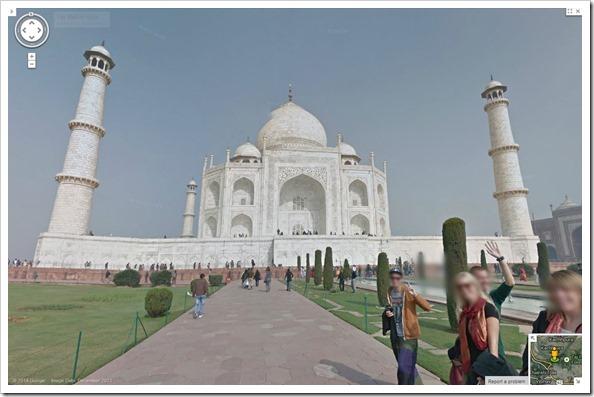Taj Mahal Google View