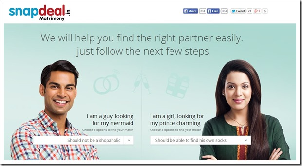 Snapdeal Matrimony