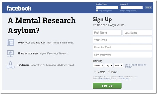 Facebook A Mental Research Asylum