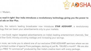 Star India Launches AdSharp: Revolutionary Concept for Geo-targeting TV Advertisements
