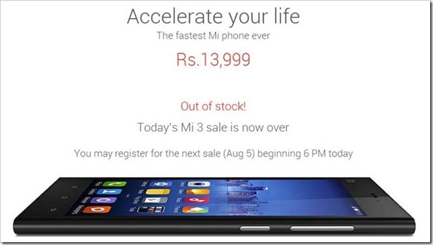 xiaomi-mi-3-out-of-stock