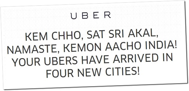 Uber 4 city launches