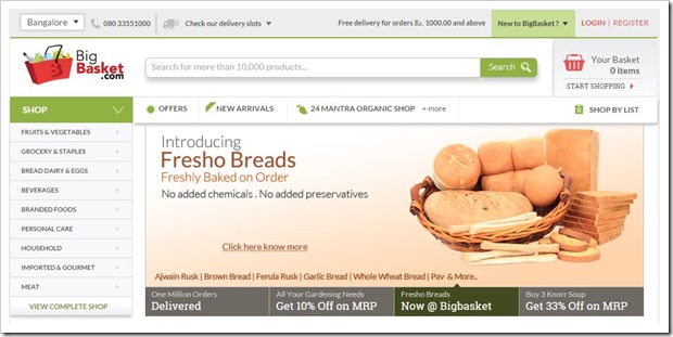 BigBasket Raises Rs 200 Cr Funding, Valuation Crosses Rs 1000 Cr!