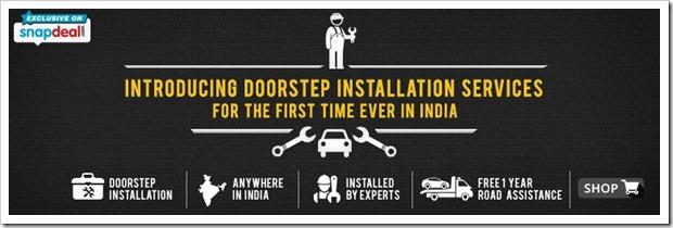Snapdeal door step installation service