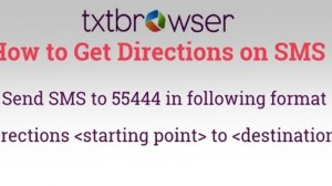 txtBrowser Brings Brings Directions on Mobile Without Internet
