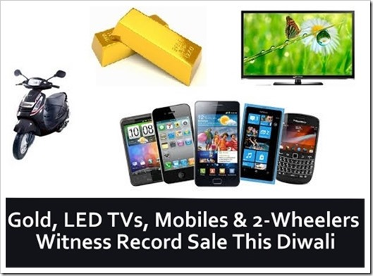 Gold, LED TVs, Mobiles & 2-Wheelers Witness Record Sale This Diwali; Consumerism At All Time High