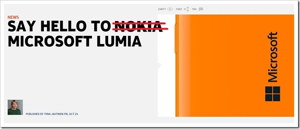 R.I.P Nokia. All Nokia Phones To Be Rebranded To Microsoft Lumia!
