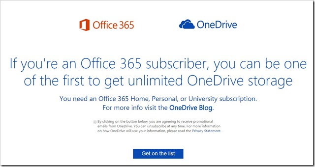 OneDrive unlimited Storage