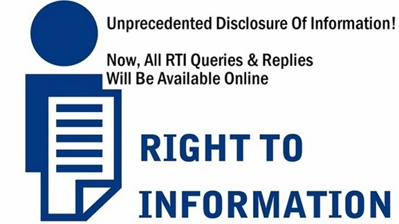 Unprecedented Disclosure Of Information. All RTI Queries & Replies Will Be Available Online
