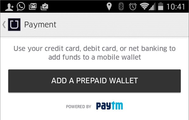 Paytm Uber Integration