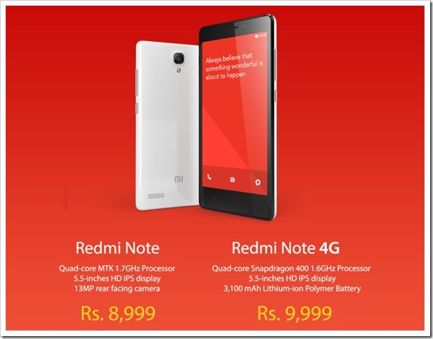Redmi Note Redmi Note 4G