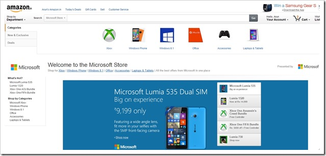 Amazon Microsoft Store