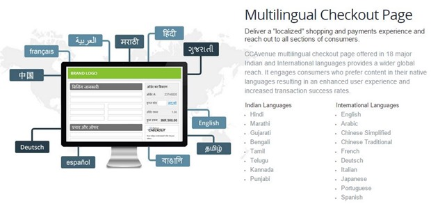 CCavenue multilingual