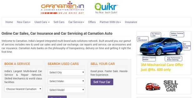 Quikr Starts Offering Free Used Car Inspection Services In Partnership With CarNation
