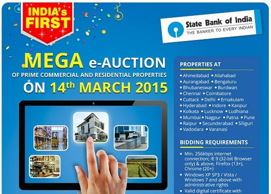 SBI To Conduct Biggest Online Auction Of Properties