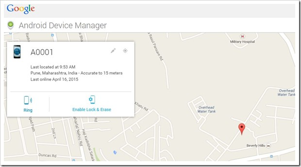 Android Device Manager Phone Find